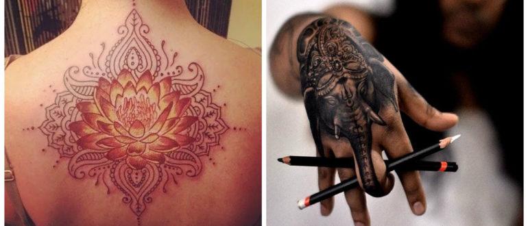 Tatuajes hindu- elefante como un simbolo principal en el hinduismo