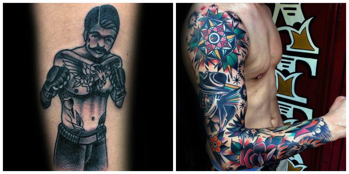 Tatuajes old school- tatuajes tradicionales parz los hombres de moda
