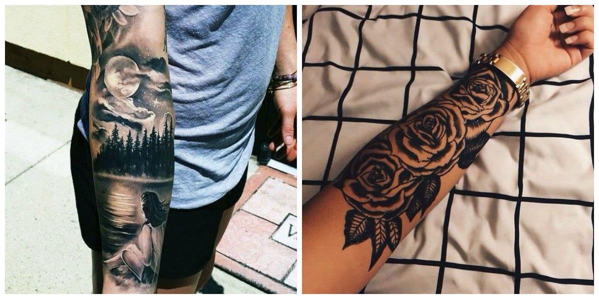Tatuajes para hombres en el brazo- signo de rsas y animales