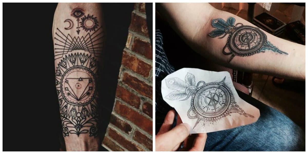 Tatuajes para hombres en el brazo- arte moderna de tatuaje