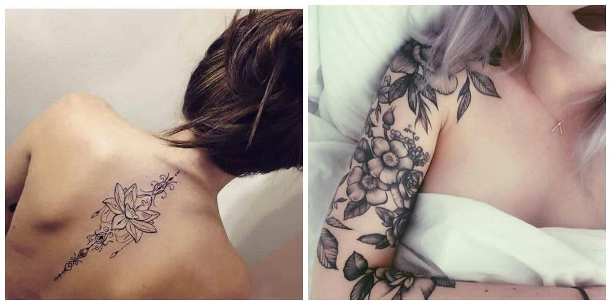 Tatuajes para mujer 2018- tatuajes sobre brazos y hombros