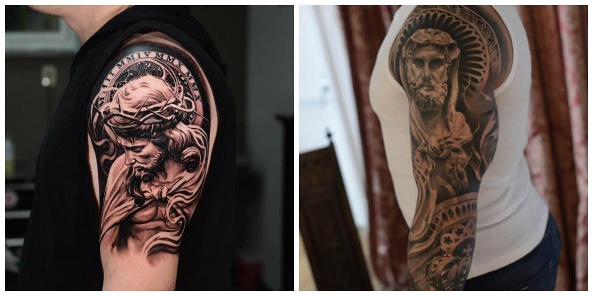 Tatuajes religiosos- simbolos de la ejecucion del Jesucristo