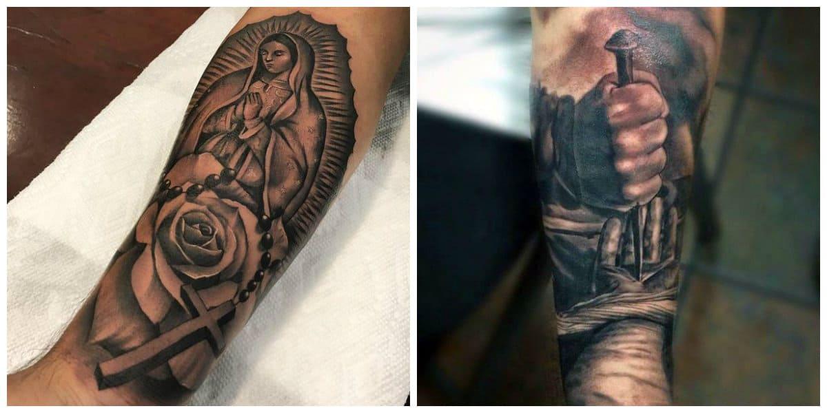 Tatuajes religiosos- virgen sobre el brazo como simbolo de pureza