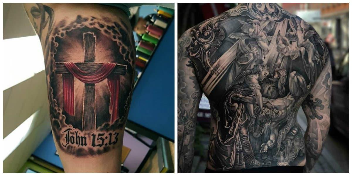 Tatuajes religiosos- se pueden encontrar tambien tatuajes en colores