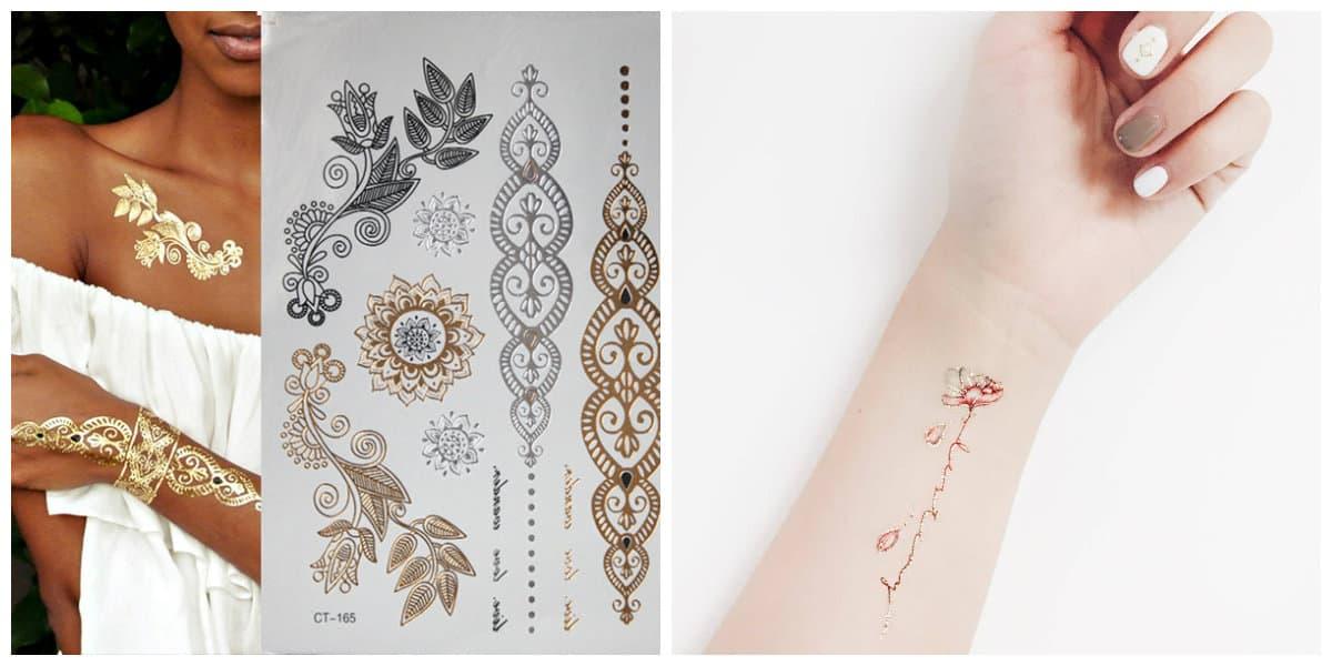 Tatuajes temporales- disenos y estilos populares de tatuajes temporales