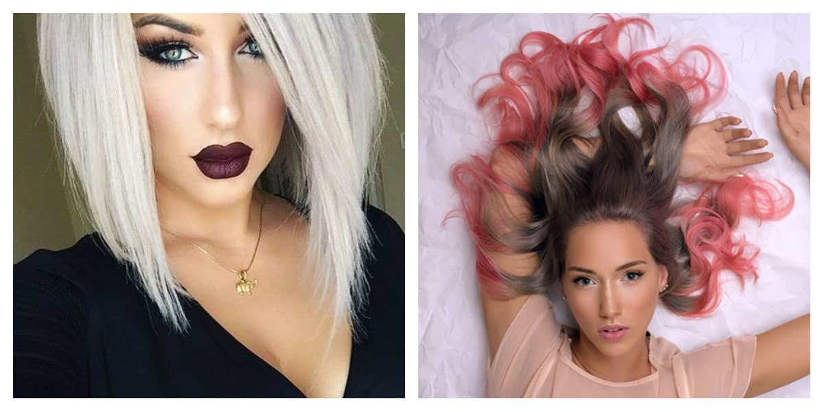 Tendencia en color de pelo- coloracion de pelo en diferentes colores