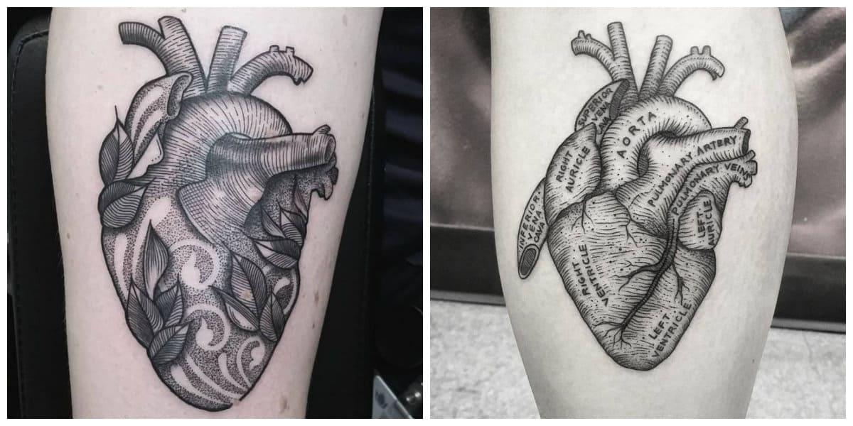 Corazones para tatuajes- el color negro es un simolo de un evento inolvidable