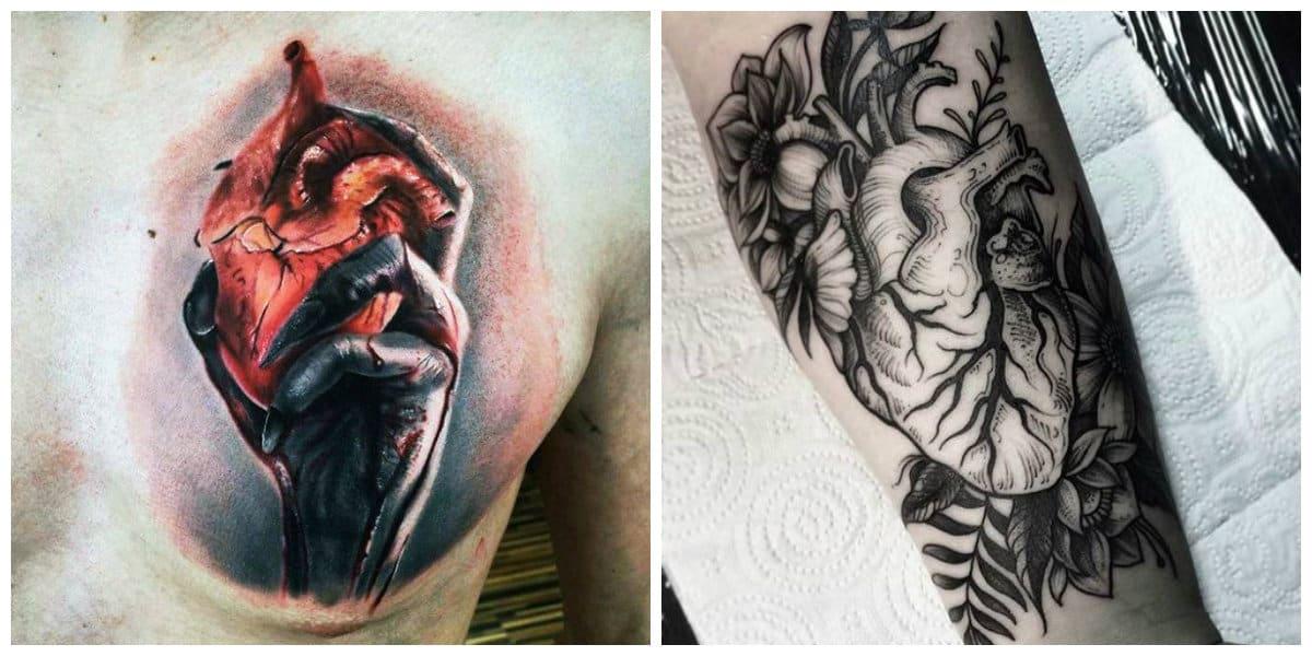 Corazones para tatuajes- hay modelos en negro asi como de diferentes colores