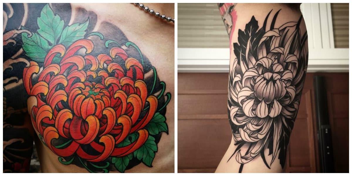Crisantemo tatuaje- tendencias nuevas y principales de moda