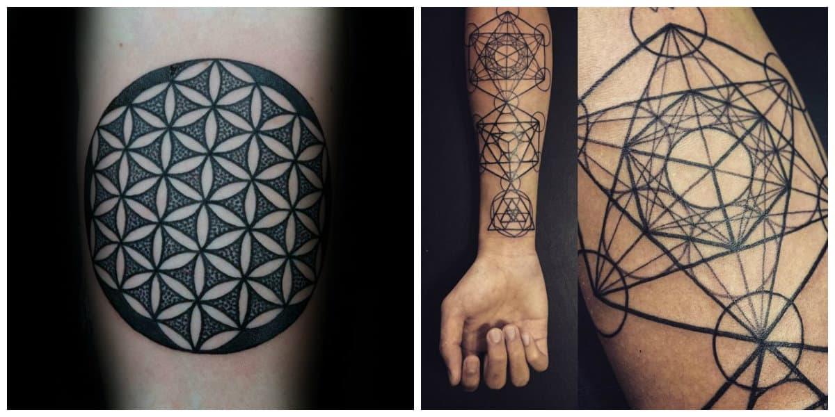 Flor de la vida tatuaje- mejores imagenes para cavar sobre los brazos
