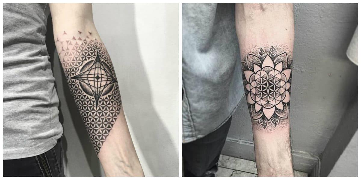 Flor de la vida tatuaje- esta muy popular entre los honbres y las mujeres