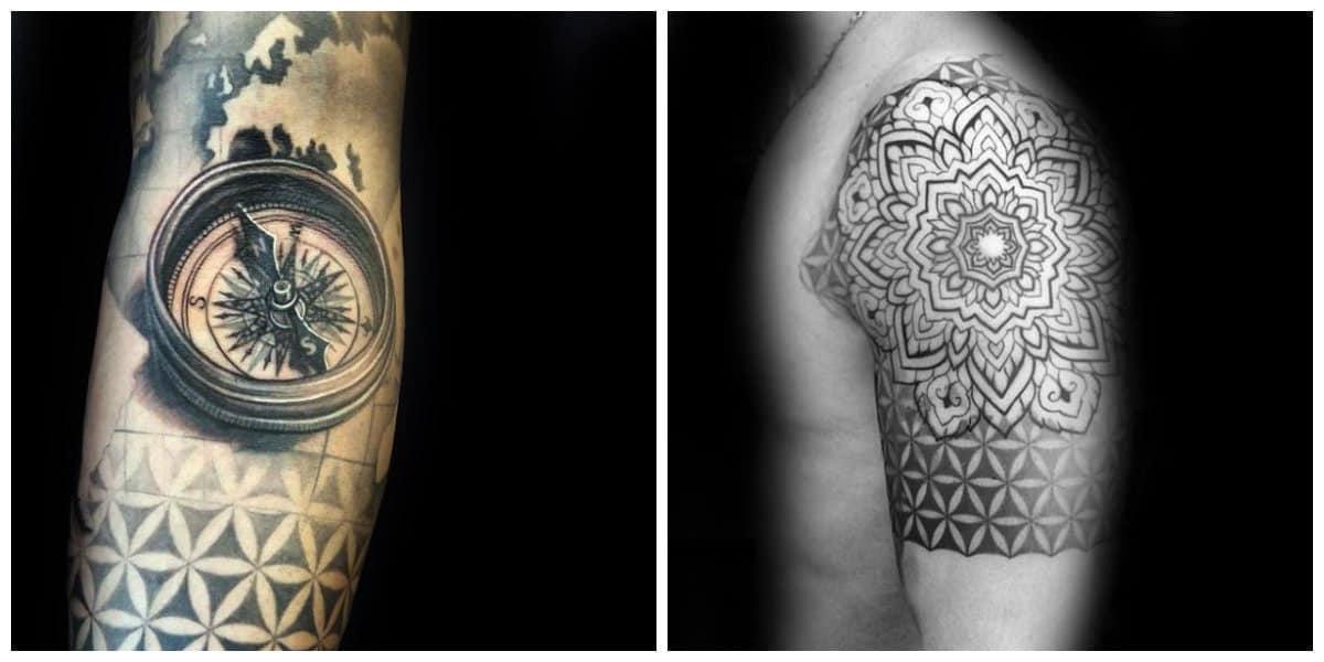 Flor de la vida tatuaje- simboliza el origen del universo en que vivimos