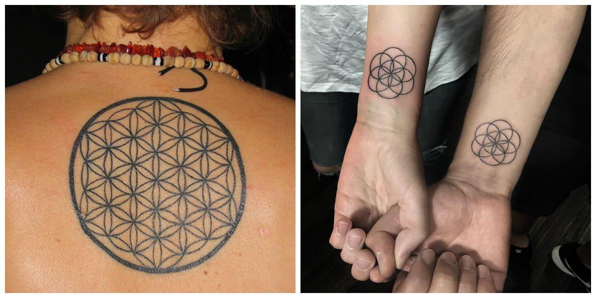 Flor de la vida tatuaje- es una opcion perfecta para una pareja