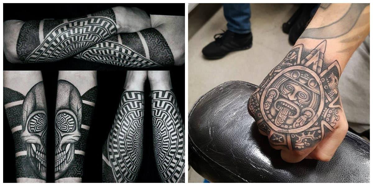 Los mejores tatuajes 2018- estilo de blackwork y dotwork muy de moda
