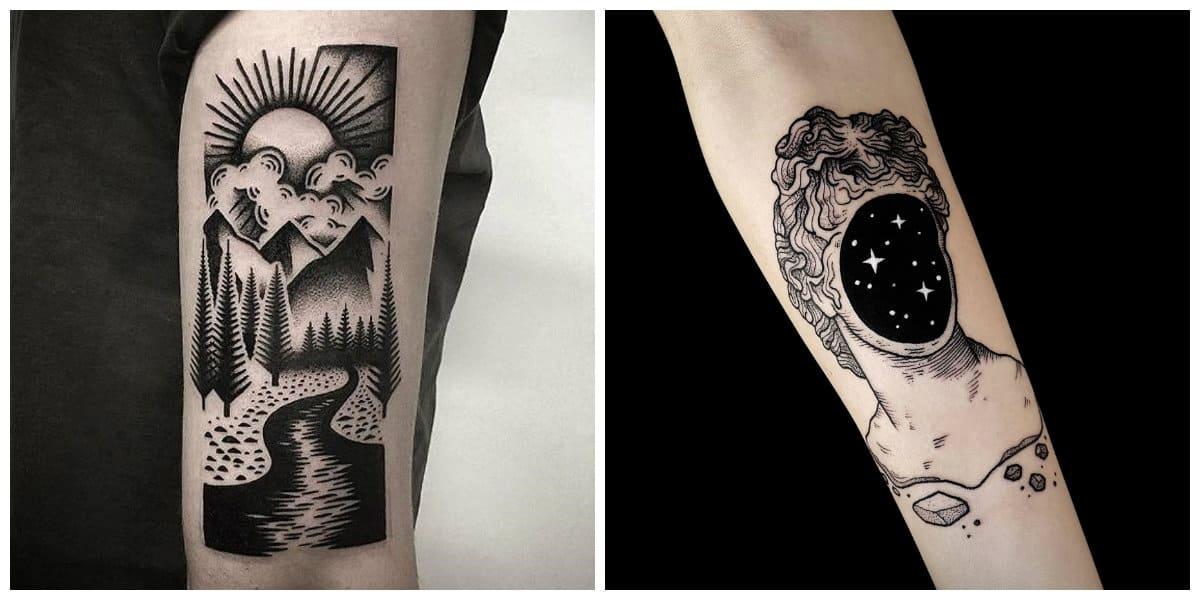 Los mejores tatuajes- dotwork es otro estilo muy popular entre hombres
