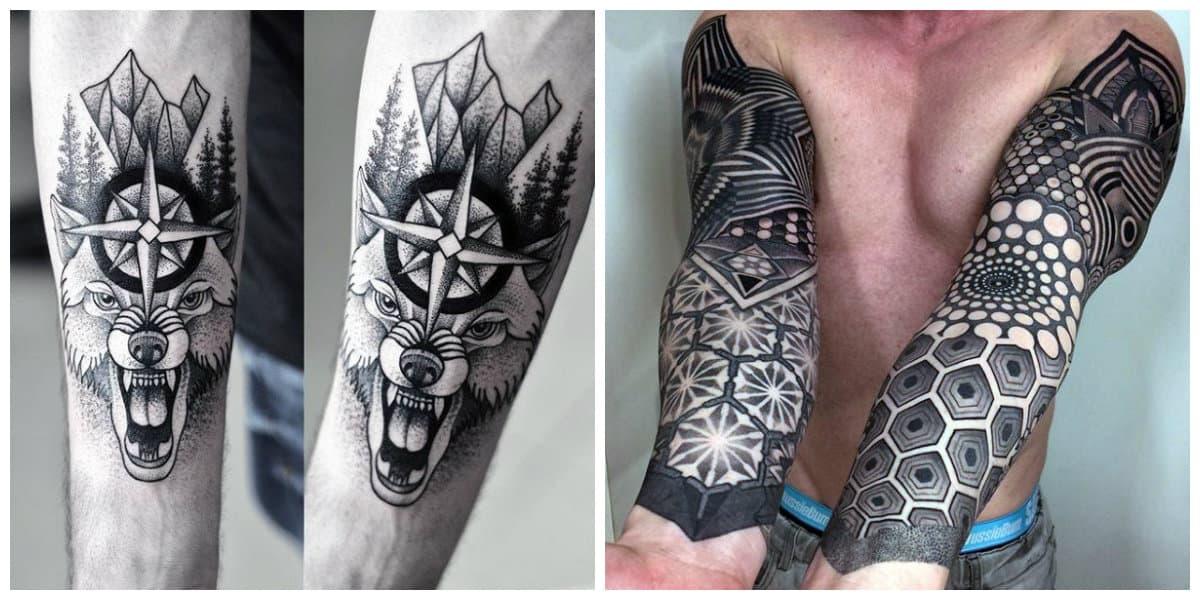 Los mejores tatuajes- linework es un estilo popular de moda masculina