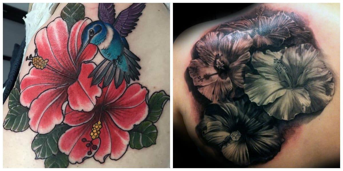 Tatuaje hibisco- tatuajes que provienen de las islas hawai