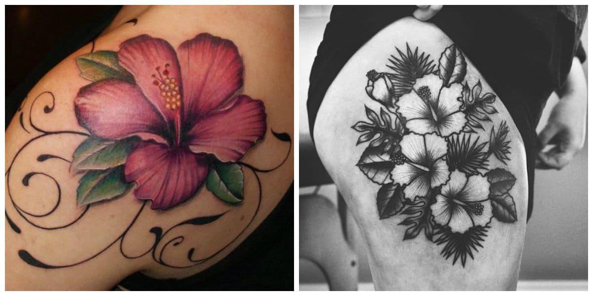 Tatuaje hibisco- tendencias que son popular entre hombres y mujeres