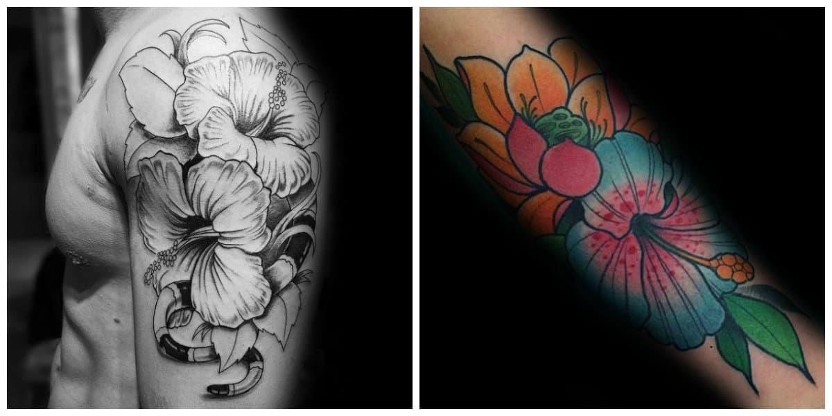 Tatuaje hibisco- se hacen tanto en color negro como en otros colores