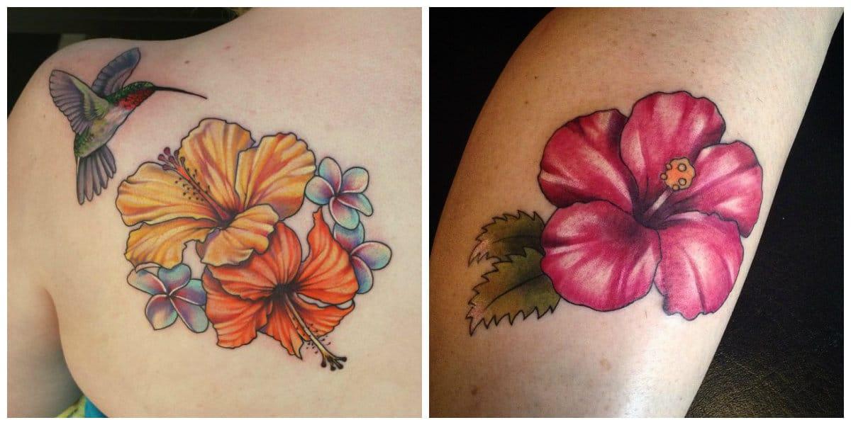 Tatuaje hibisco- cada color de este flor tiene su simbolismo