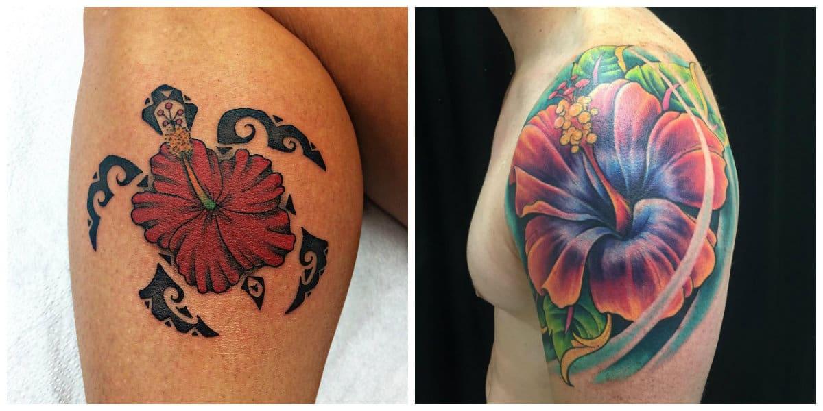 Tatuaje hibisco- son simbolos de amor, fidelidad y vida