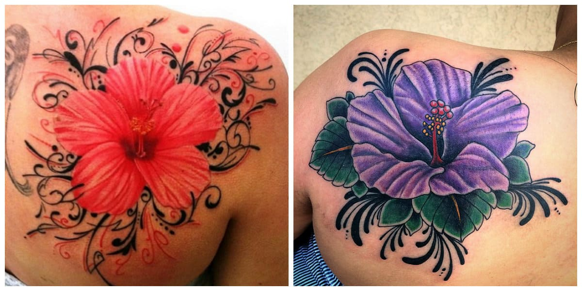 Tatuaje hibisco- esta presente tambien en la cultura china como simbolo de riqueza