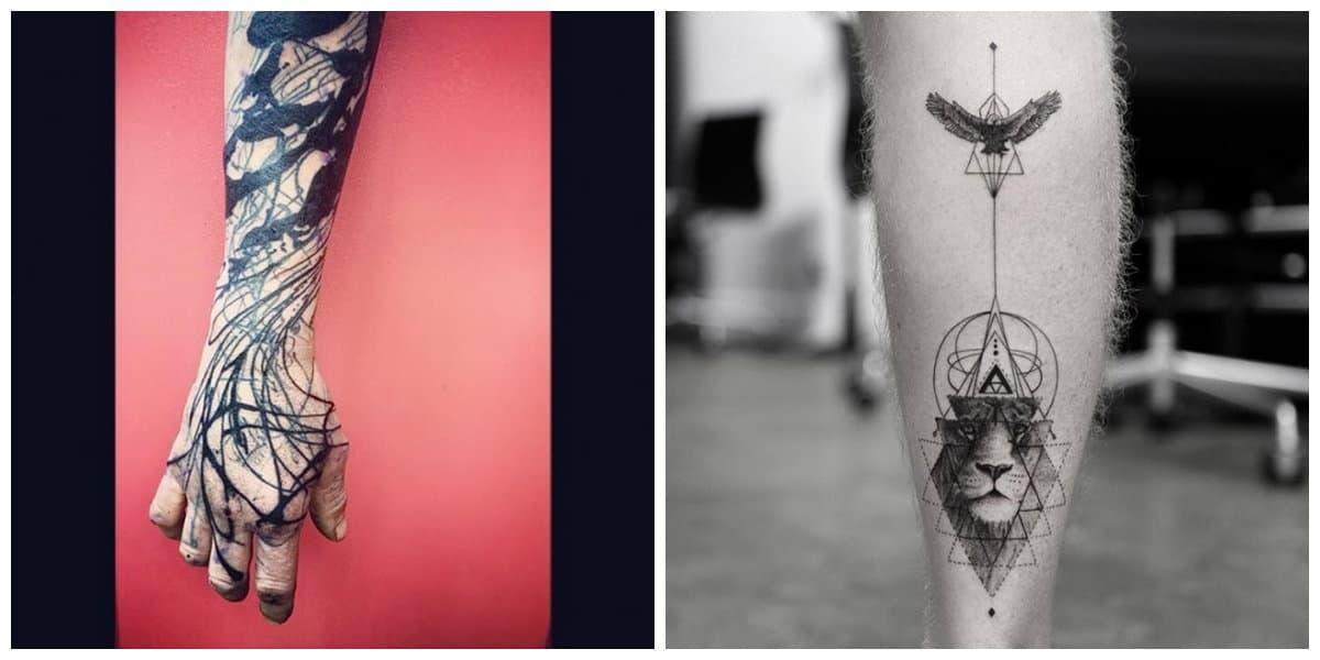 Tatuajes abstractos- pueden incluir diversas imagenes e ideas de moda