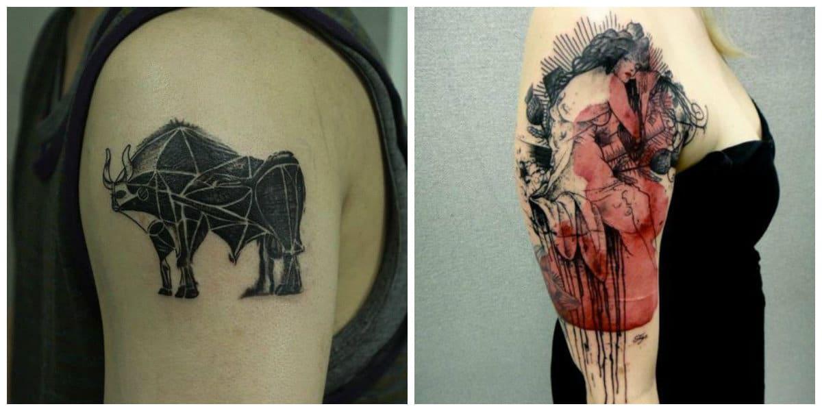 Tatuajes abstractos- se colocan en cualquier parte del cuerpo
