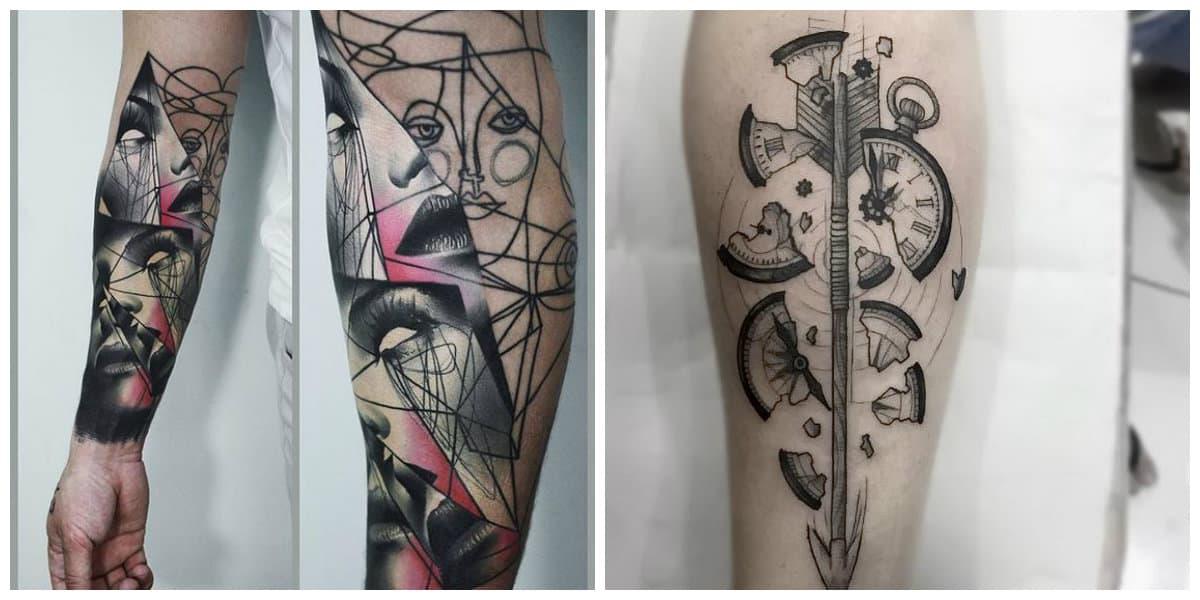 Tatuajes abstractos- arte muy moderna que se difiere de los demas