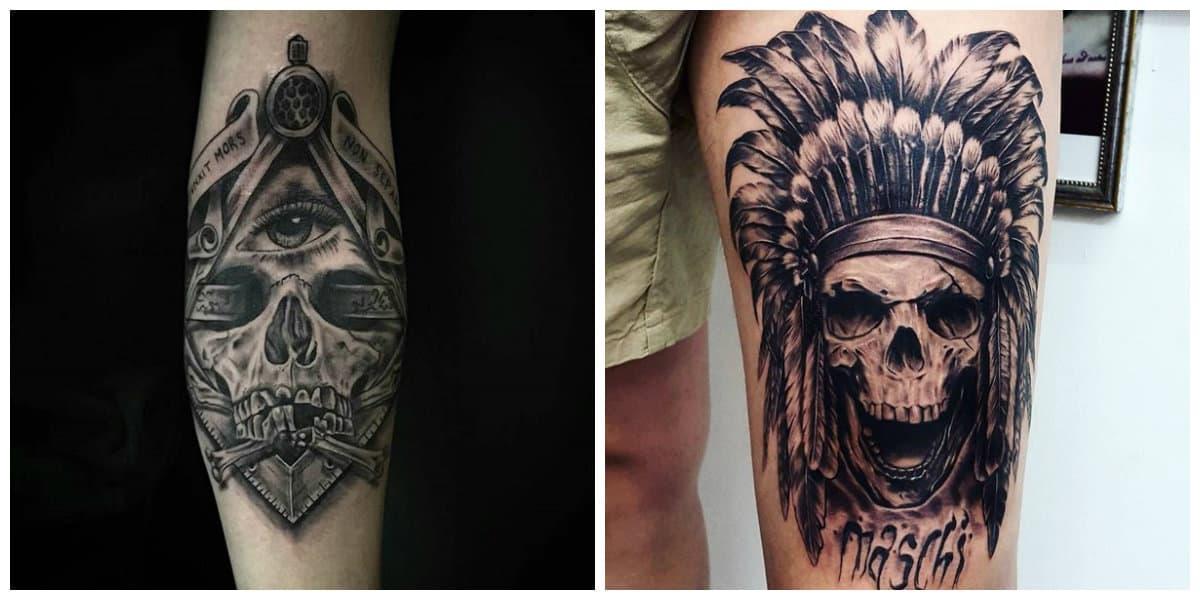 Tatuajes calaveras- todas las tendencias principales en uso