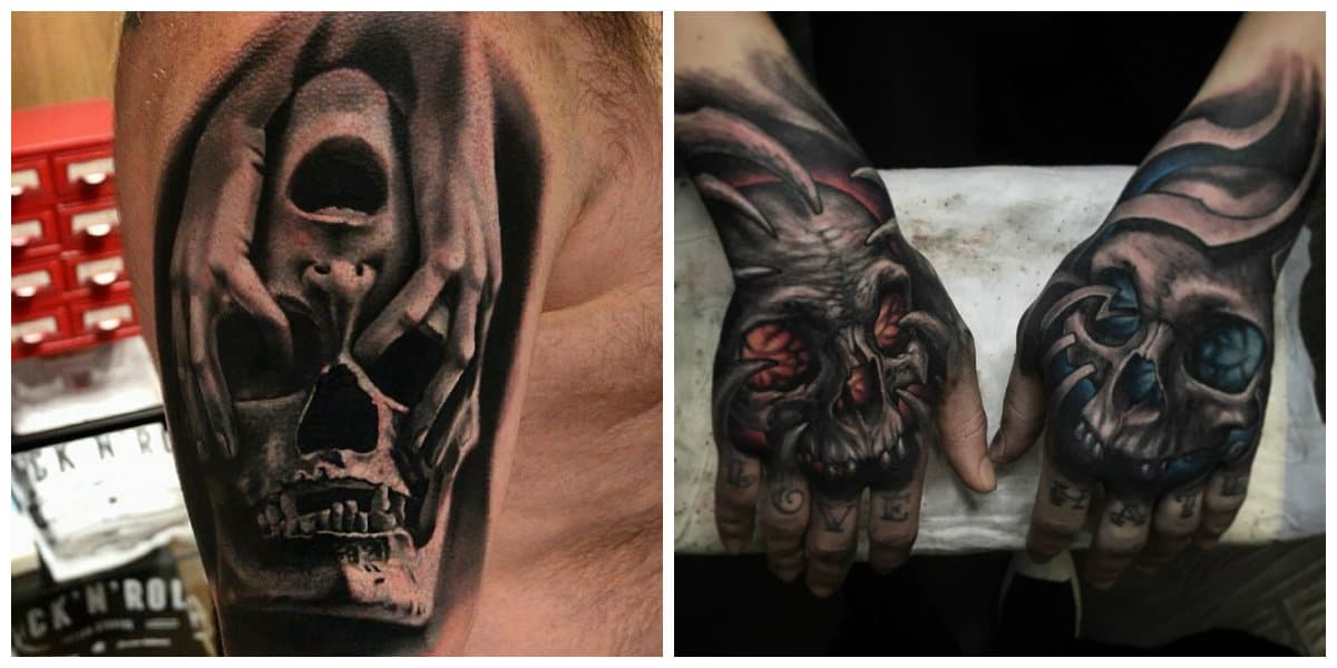 Tatuajes calaveras- partes de cuerpo adecuados para este tipo de tatuajes