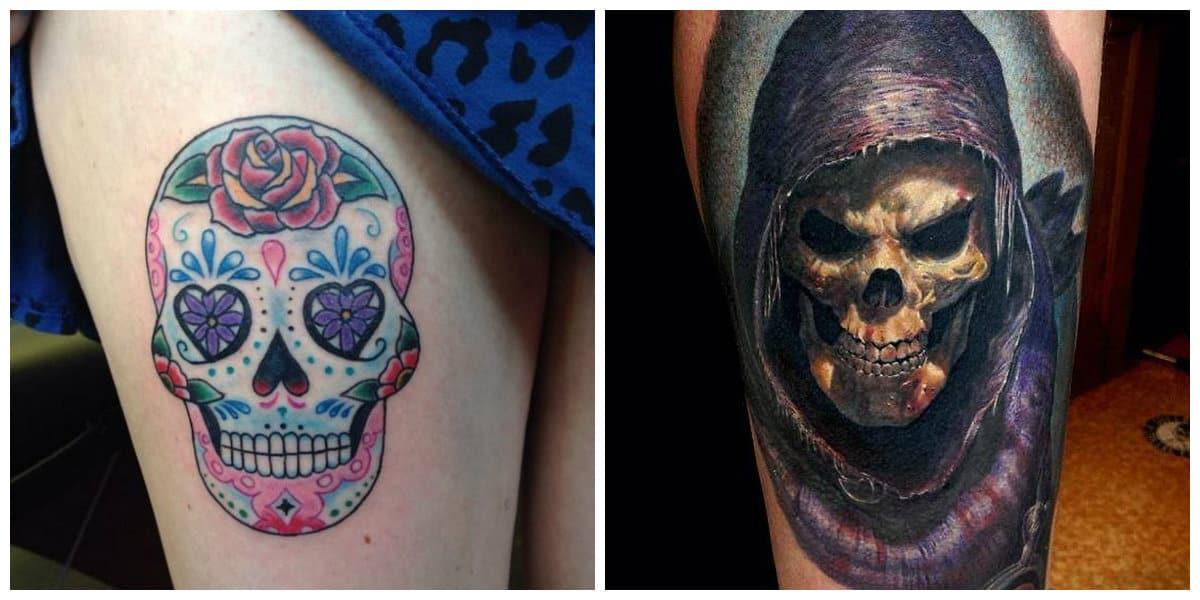 Tatuajes calaveras- las mujeres tambien optan por estos tatuajes