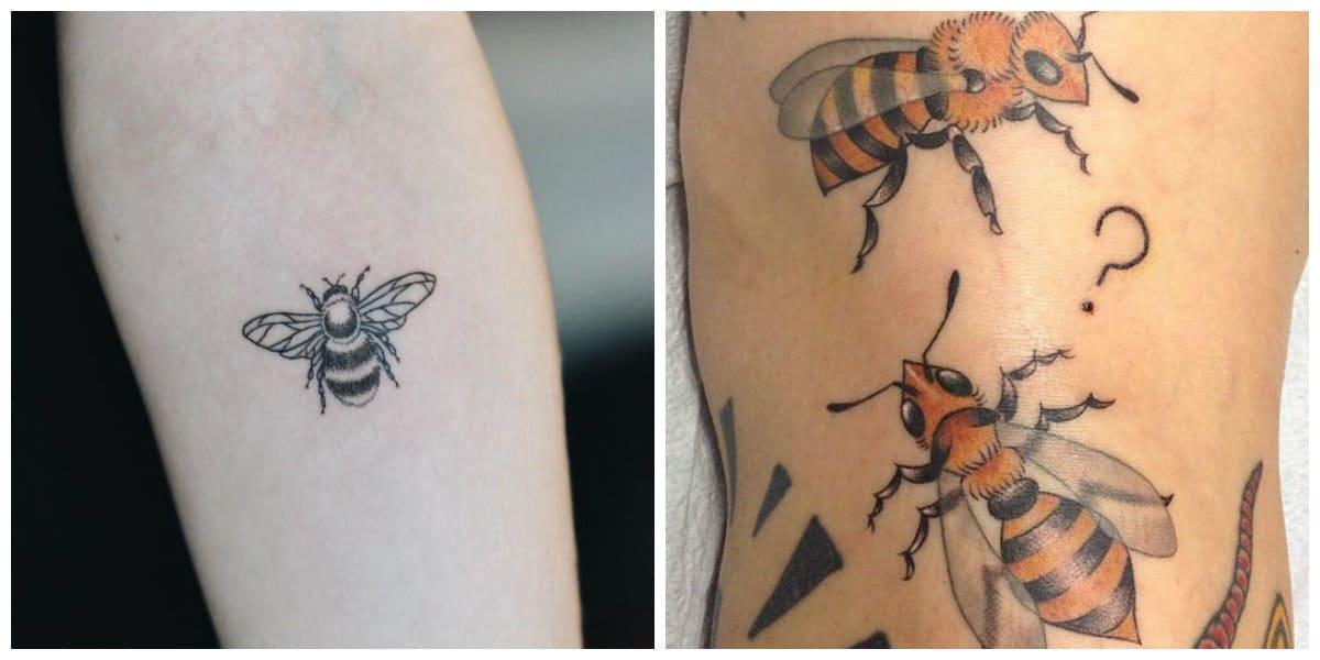 Tatuajes de abejas- es un simbolo antiguo de trabajo
