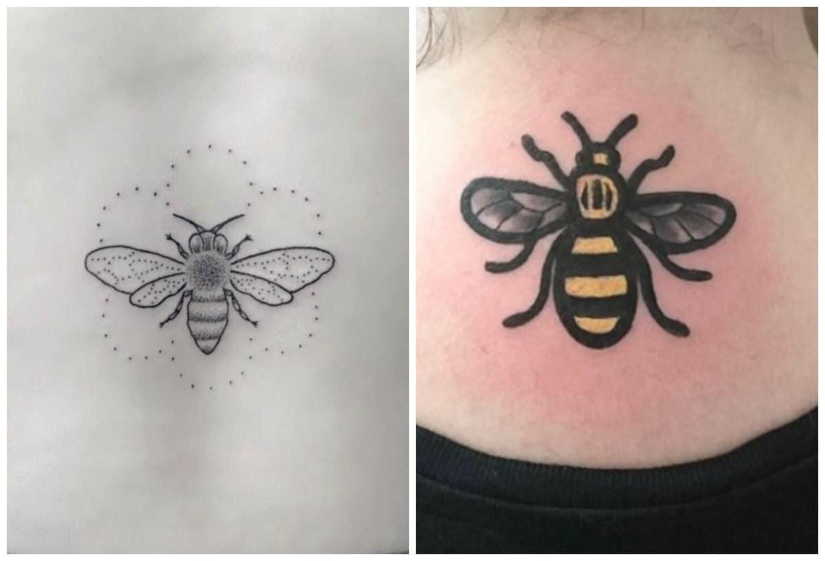 Tatuajes de abejas Tendencias modernas de tatuajes creativos de abejas de miel