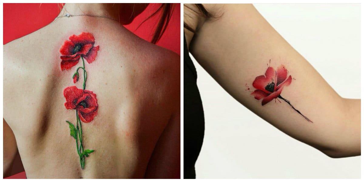 Tatuajes de amapolas- tendencias princiapes y modernas para mujer