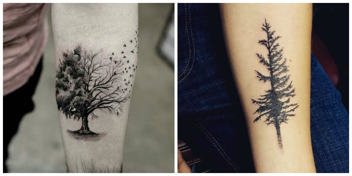 Tatuajes de arboles- tendencias principales de tatuajes naturales de moda