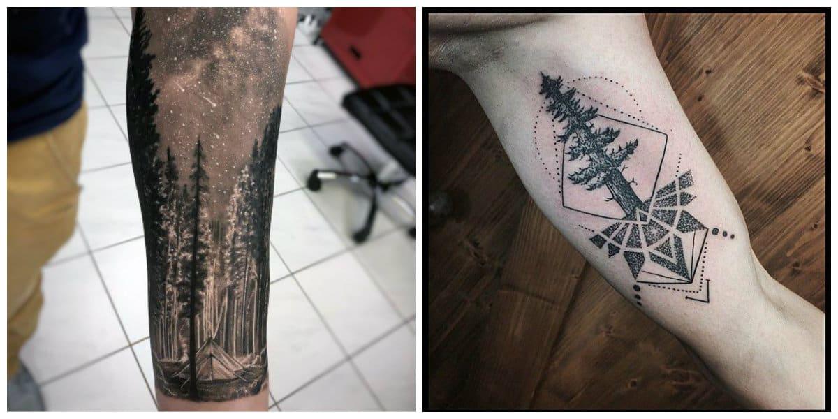 Tatuajes de arboles- esta muy popular entre los homnres modernos