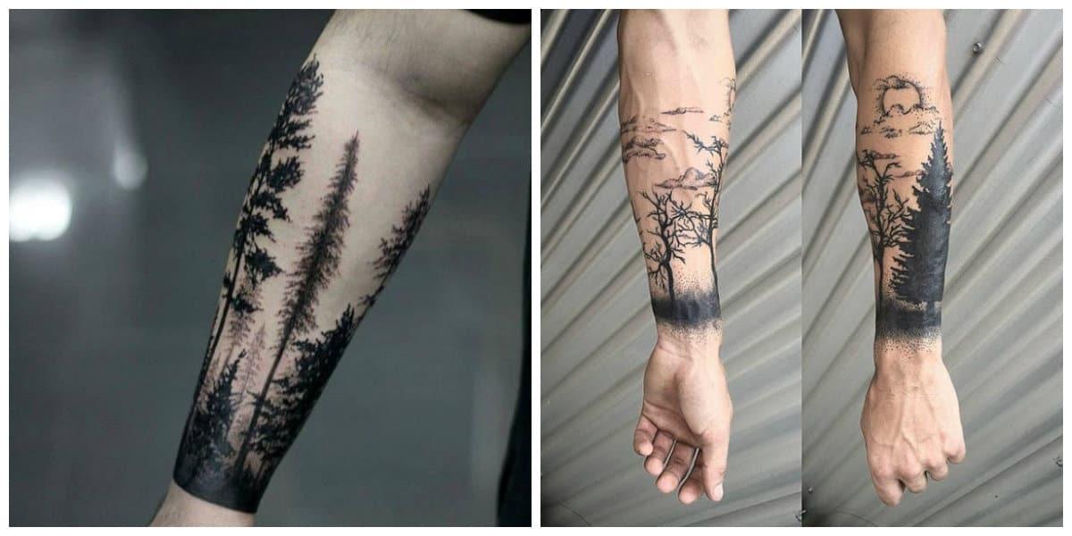 Tatuajes de arboles- pueden abarcar diferentes imagenes adicionales