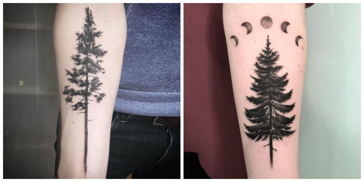 Tatuajes de arboles- encarnan vida y muerte a la vez