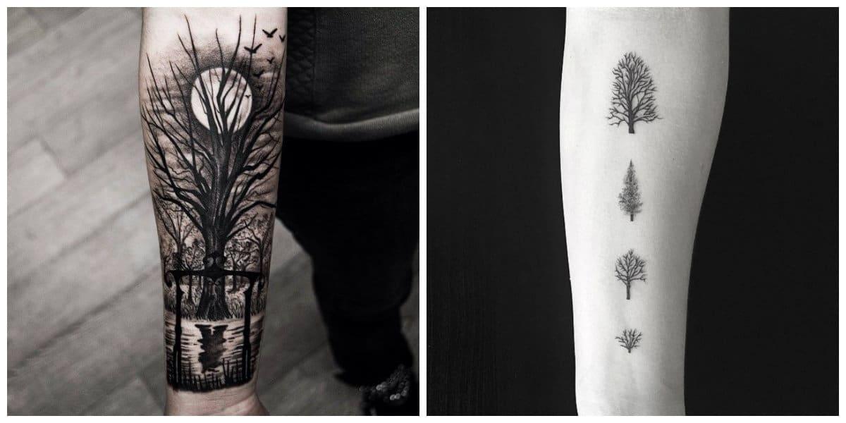 Tatuajes de arboles- es un simbolo de vida nueva encarnada