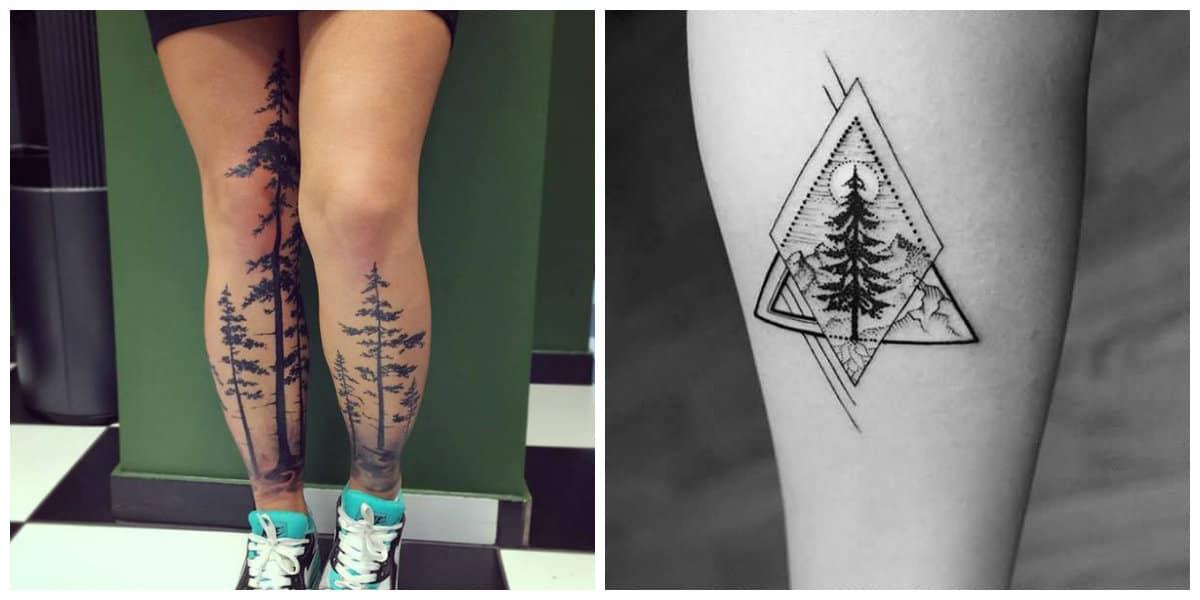 Tatuajes de arboles- si esta con los raices, tiene otra significacion