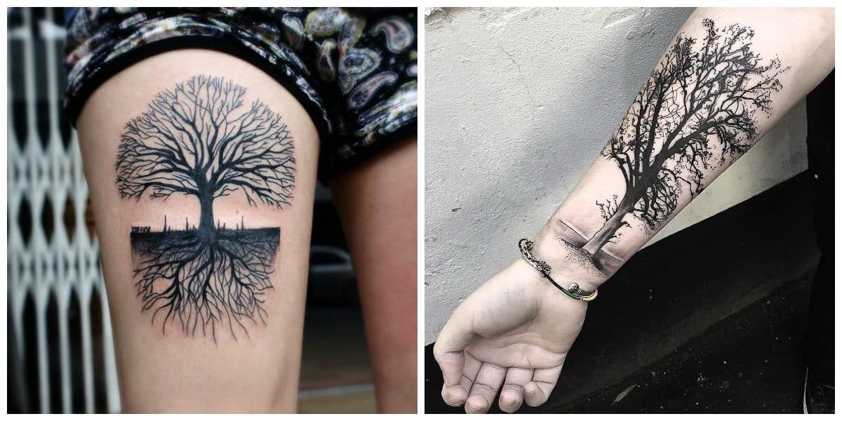 Tatuajes De Arboles Tatuajes Prefectas Con Diseños De Arboles Para Hombre Y Mujer