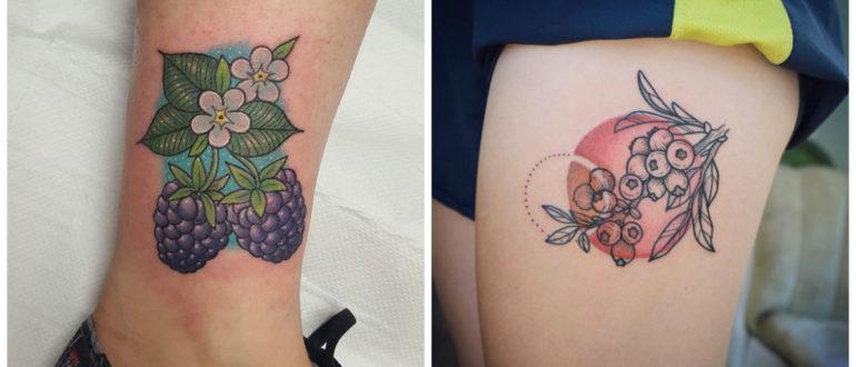 Tatuajes de bayas- ideas modernas para las chicas y las mujeres de moda