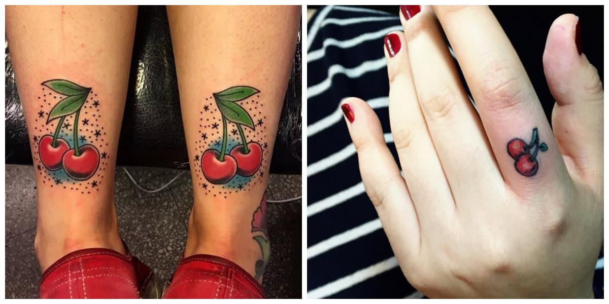 Tatuajes de cerezas- se puede ponerlos en los partes del cuerpo mas visibles