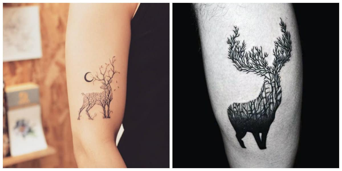 Tatuajes de ciervos- ideas interesantes entre las tendencias modernas