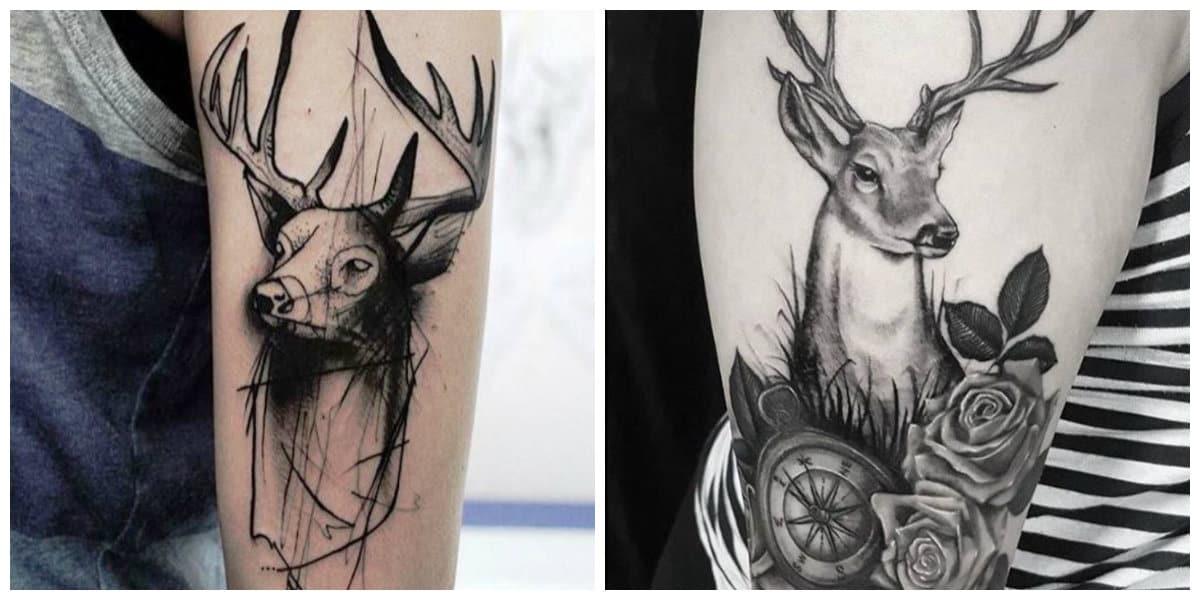 Tatuajes de ciervos- es un simbolo de buena suerte y elegancia