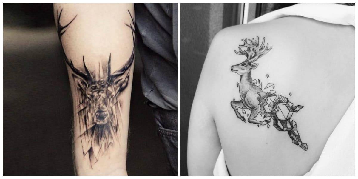 Tatuajes de ciervos- se puede cavar en diferentes partes del cuerpo humano