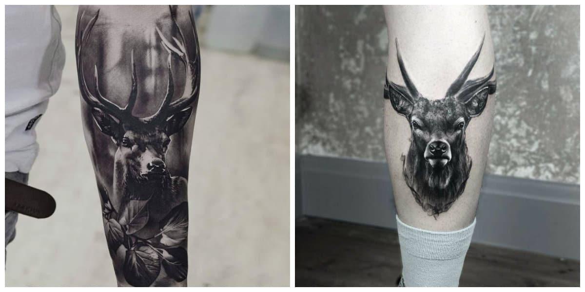 Tatuajes de ciervos- tiene un simbolismo diferente en varias culturas antiguas