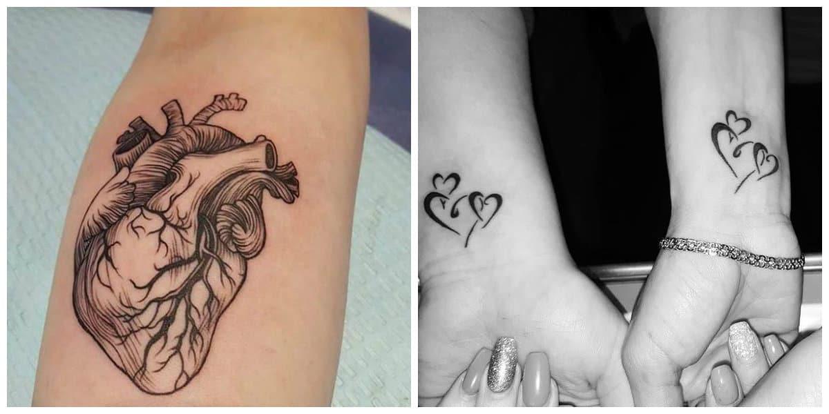 Tatuajes de corazones- todas las tendencias principales de moda