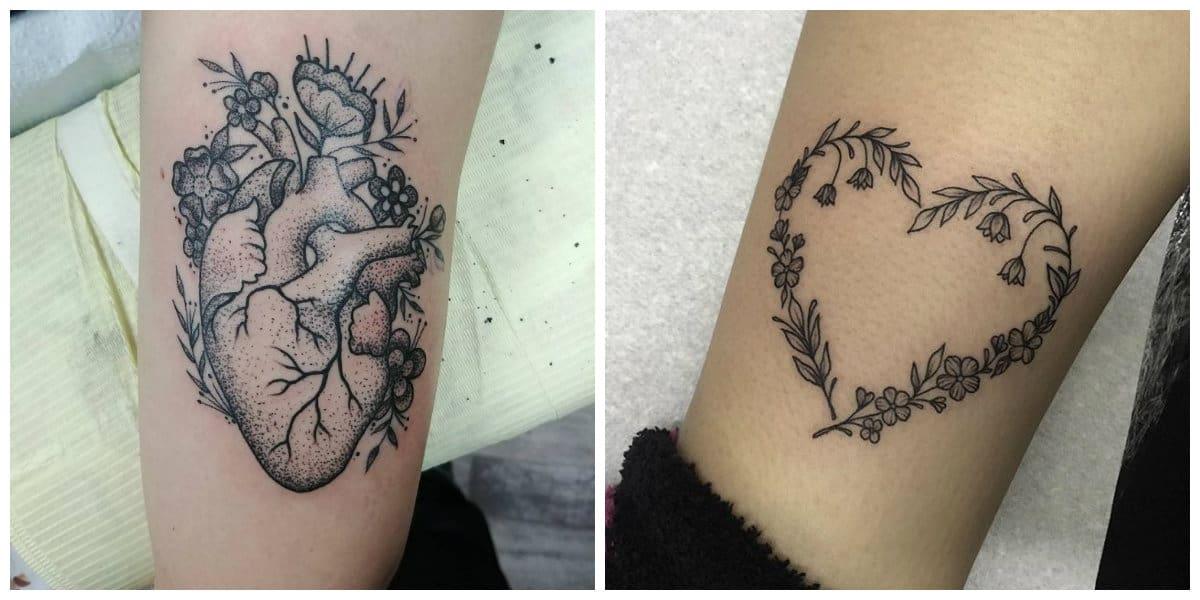 Tatuajes de corazones- estilos romanticos para los amantes de vida